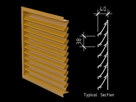 40mm Small Profile Weather Louver