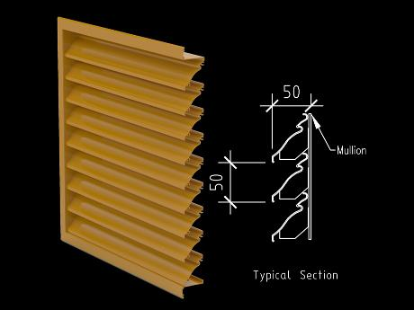 50mm Small Profile Weather Louver