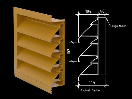 100mm Knockdown Weather Louver